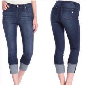 1822 Denim Cruffed Crop Jean Size 4